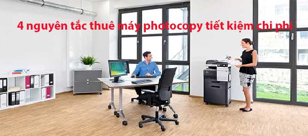 4 nguyên tắc thuê máy photocopy giúp tiết kiệm chi phí