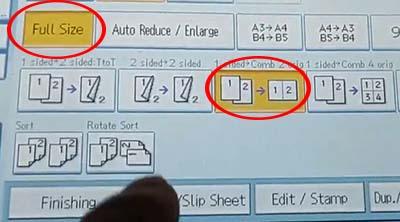 Tiếp tục chọn các lệnh để photo chứng minh thư trên một mặt giấy