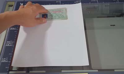 Xác định vị trí đặt chứng minh thư