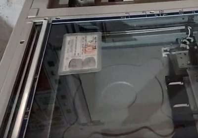 Photo chứng minh thư trên máy Ricoh
