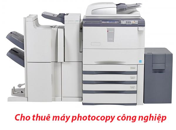 Cho thuê máy photocopy công nghiệp giá tốt